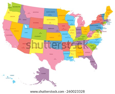 Usa Map Stock Images RoyaltyFree Images Vectors Shutterstock - Usa map picture