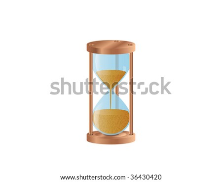Vector illustration of a hourglass