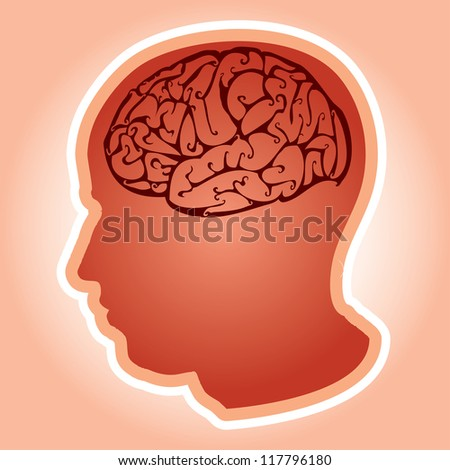 Vector illustration of a human head. - stock vector