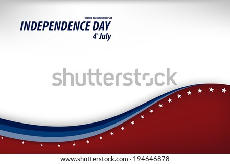 Vector Illustration of a Independence Day Design - stock vector