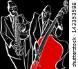 Vector illustration of a Jazz band - stock vector