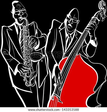 Vector illustration of a Jazz band
