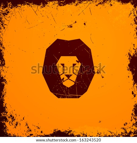 Vector Illustration of a Lion Icon - stock vector