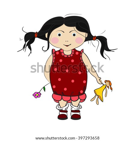 Beautiful Cartoon Doll Flowers Stock Photos Royalty Free