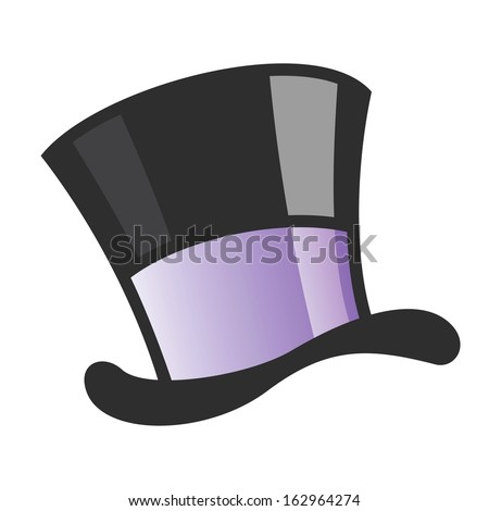 Vector illustration of a magician hat - stock vector