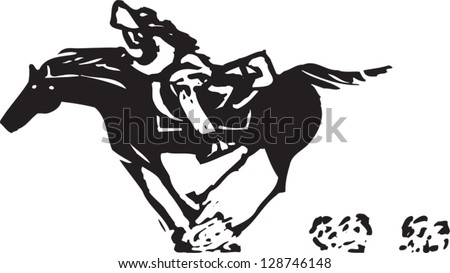 Vector illustration of a man riding