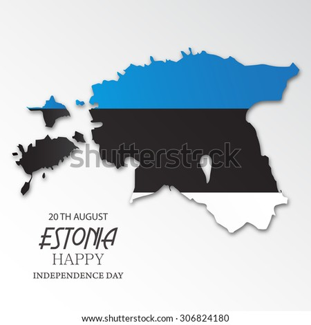 Vector illustration of a map for Estonia Independence Day. - stock vector