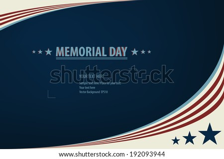 Vector Illustration of a Memorial Day Design