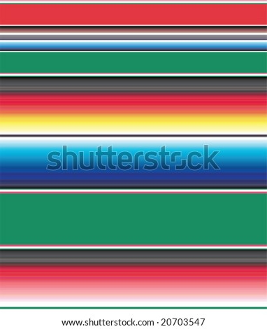 Vector illustration of a Mexican blanket pattern, good for backgrounds. - stock vector