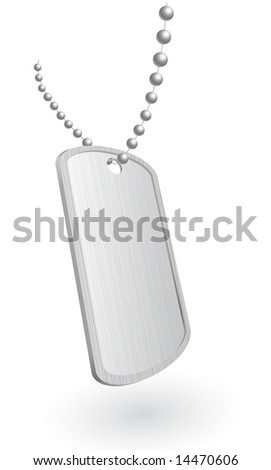 Vector illustration of a military aluminum plate
