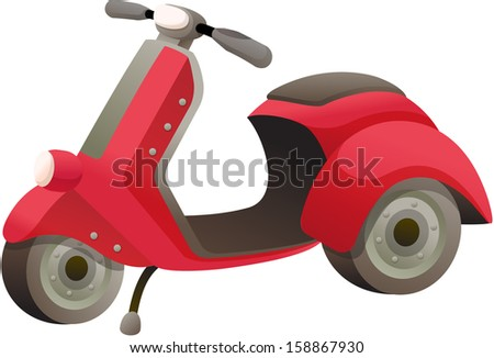 Vector illustration of a motorcycle - stock vector