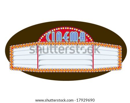 vector illustration of a movie marquee - stock vector