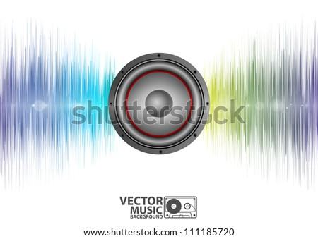 Vector illustration of a music equalizer wave - stock vector