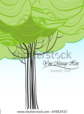 Vector illustration of a nature concept background