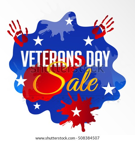 Vector illustration of a Offer Background For Veterans Day.