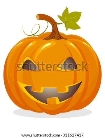 Vector illustration of a orange pumpkin head