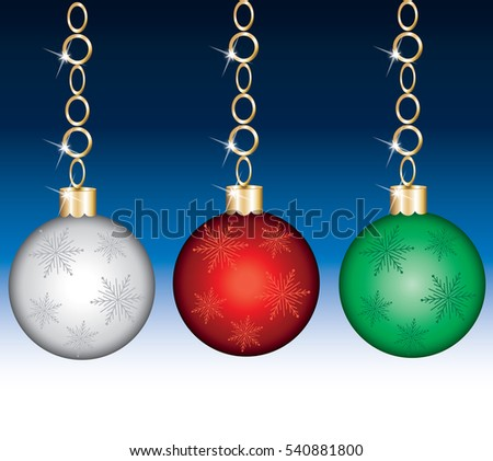 Vector Illustration of a Ornament Set with background.