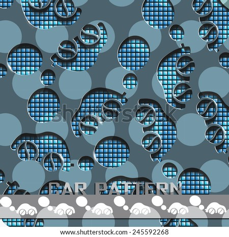 vector illustration of a pattern in the style of cars - stock vector