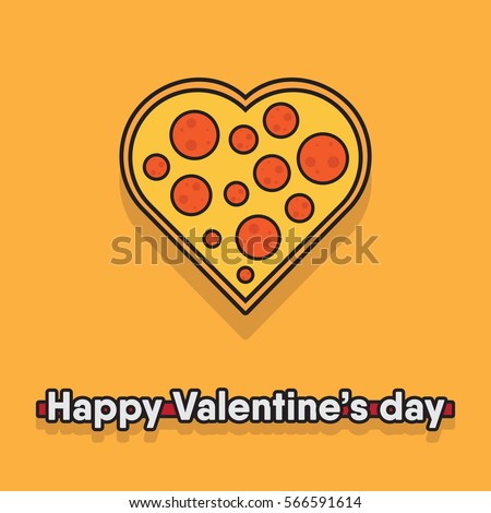 Vector illustration pizza heart food pizza stock vector for Cuisine janod happy day
