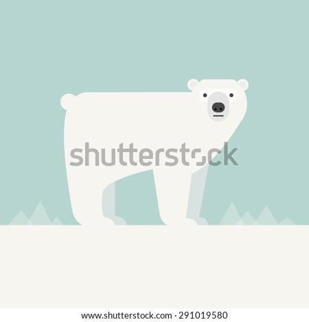 Vector illustration of a Polar Bear.  - stock vector