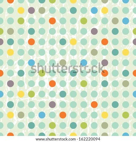 Vector illustration of a polka dot pattern - stock vector
