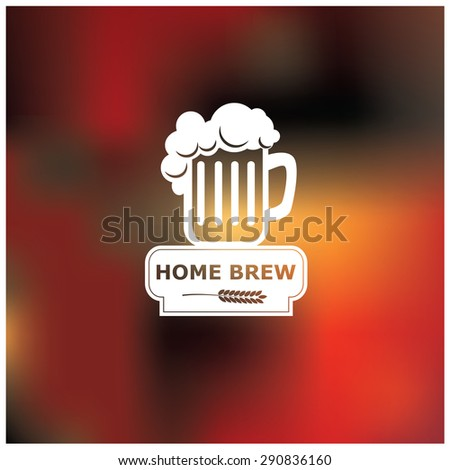 Vector illustration of a premium beer background