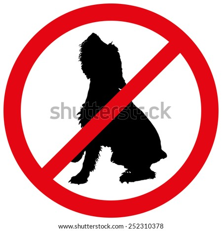 Vector illustration of a prohibition of dog.