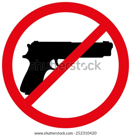 Vector illustration of a prohibition of weapon.