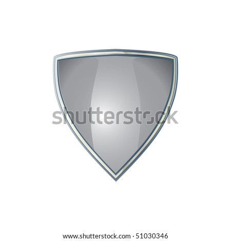 vector illustration of a protected shiny shield