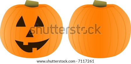 Vector Illustration of a pumpkin - stock vector