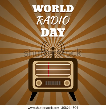 Vector illustration of a radio for World Radio Day eps 10 - stock vector