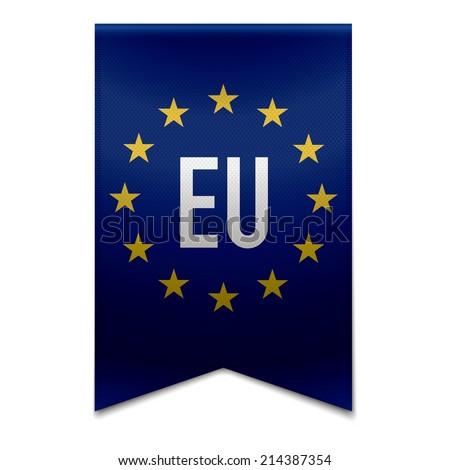 Vector illustration of a realistic european-union - EU flag. - stock vector