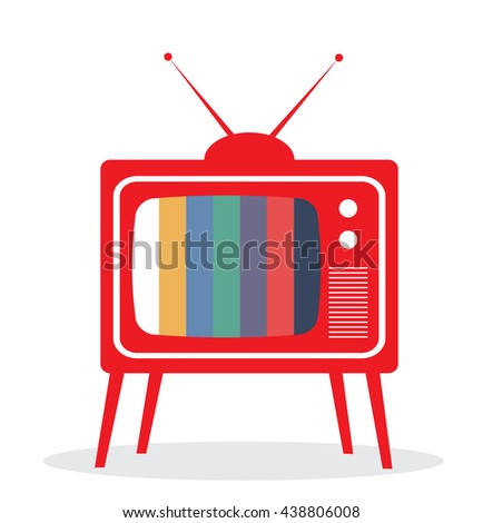 vector illustration of a retro old TV