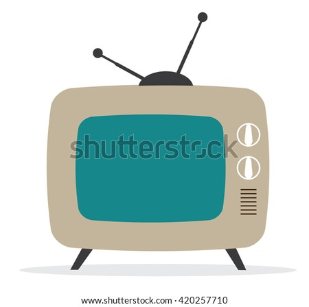 vector illustration of a retro tv
