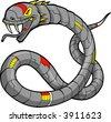 Vector Illustration of a Robot Snake - stock vector