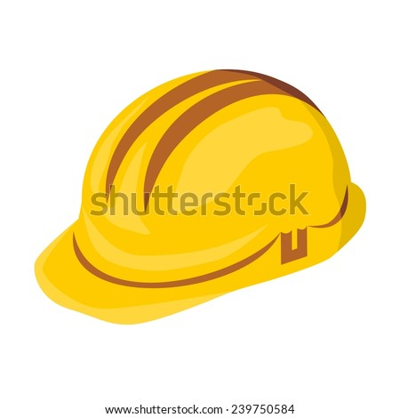Vector illustration of a safety helmet, hard hat - stock vector
