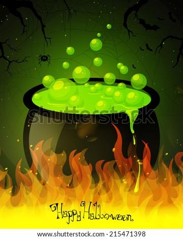 Vector Illustration of a Scary Halloween Design - stock vector