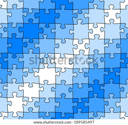 vector illustration of a seamless jigsaw puzzle pattern