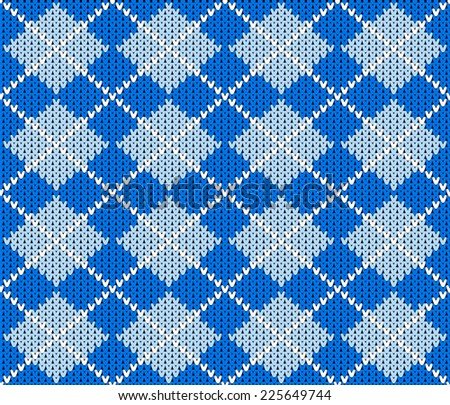 vector illustration of a seamless knitted argyle sweater background - stock vector