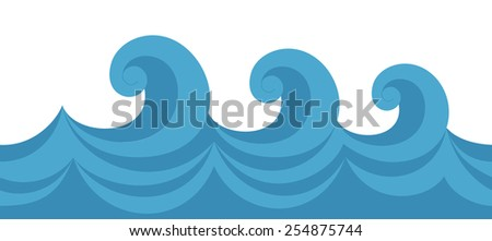 Vector illustration of a seamless texture wave - stock vector