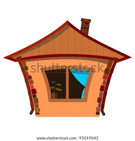 Vector illustration of a small house