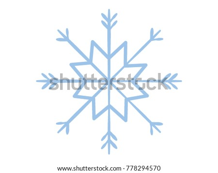 Vector illustration of a Snowflake