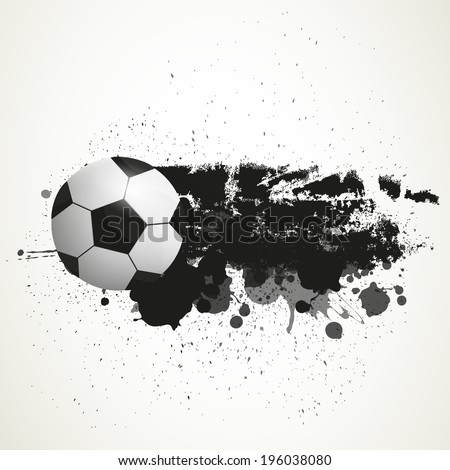 Vector Illustration of a Soccer Background - stock vector