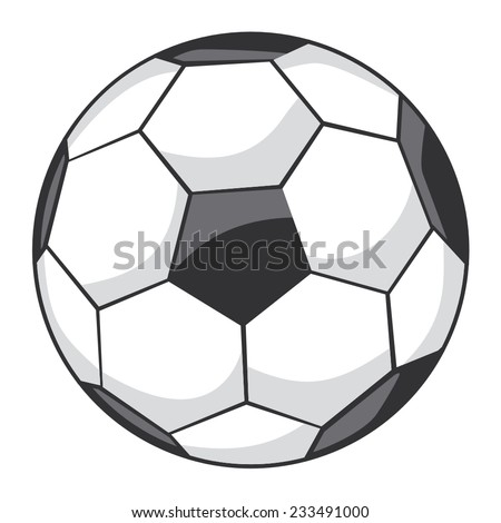 Vector illustration of a soccer, soccer-ball - stock vector