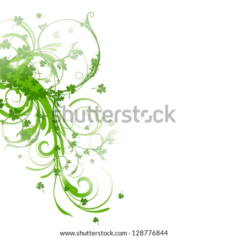 Vector Illustration of a St. Patrick's Day Background - stock vector