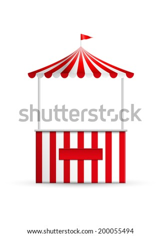 Vector illustration of a stall. - stock vector