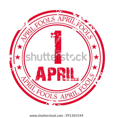 Vector illustration of a stamp for April Fools' Day. - stock vector