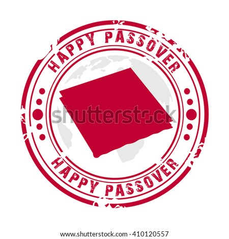 Vector illustration of a stamp for happy passover.