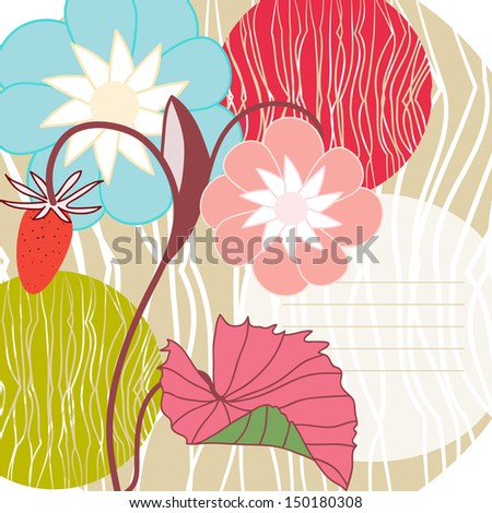 Vector illustration of a strawberry background