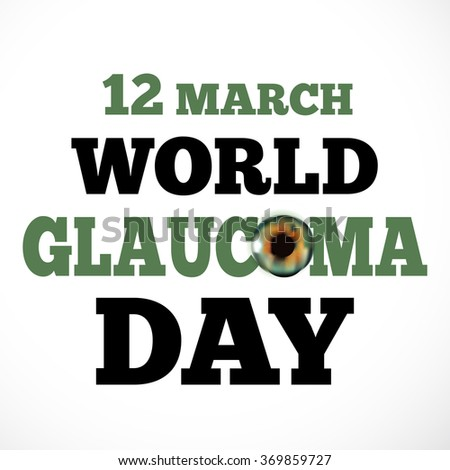 Vector Illustration of a stylish text for World Glaucoma Day.